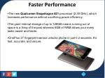 faster performance