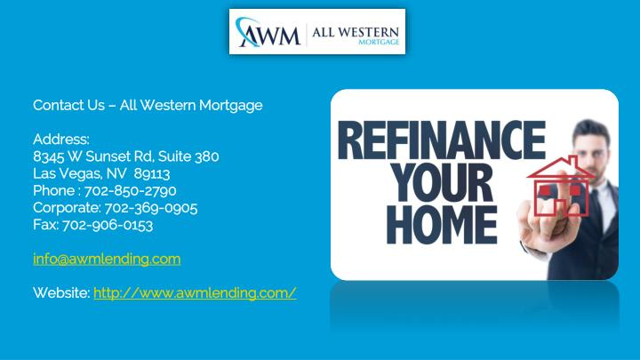 Contact Us – All Western Mortgage