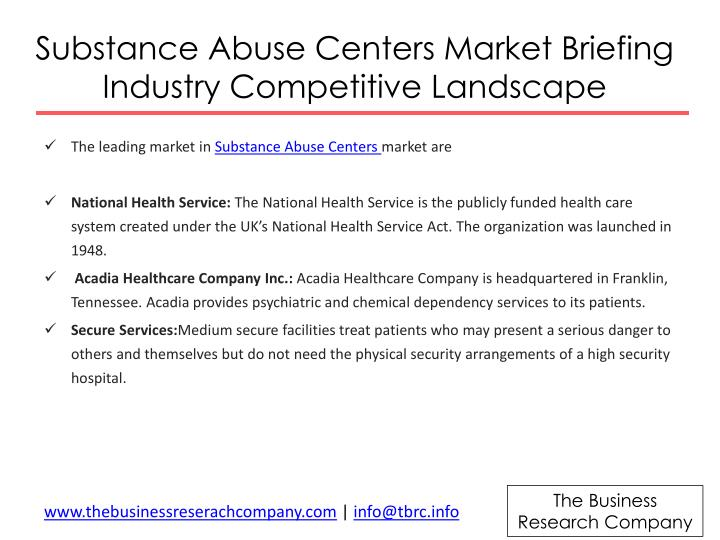 Substance Abuse Centers