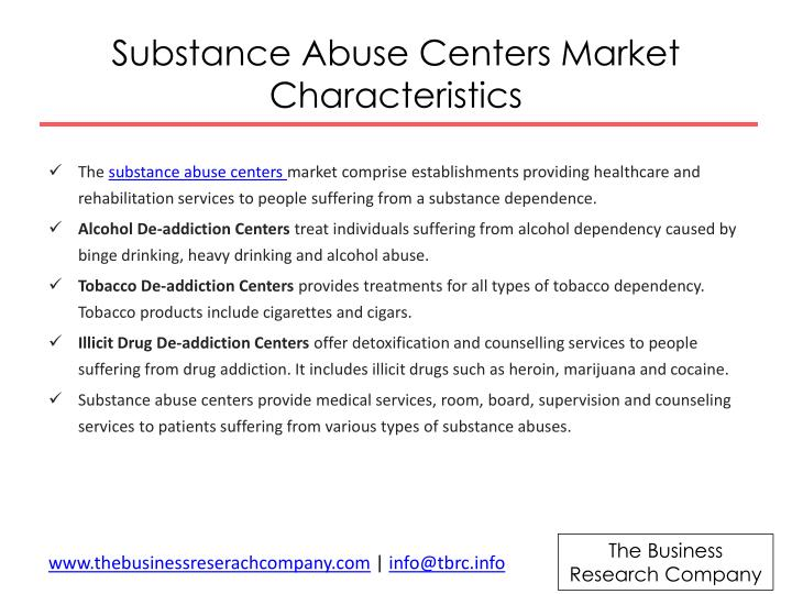 Substance Abuse Centers Market
