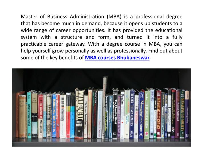 Master of Business Administration (MBA) is a professional degree that has become much in demand, bec...