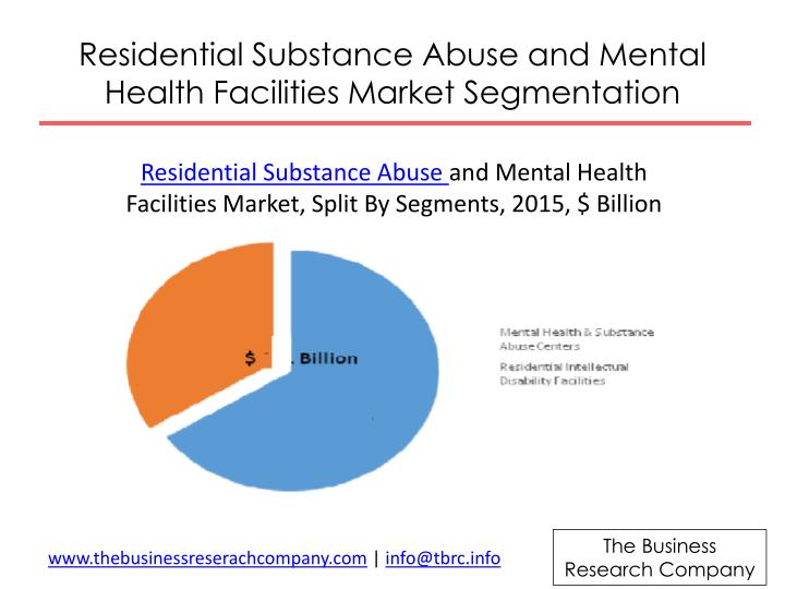 Residential Substance Abuse and Mental Health Facilities Market Segmentation