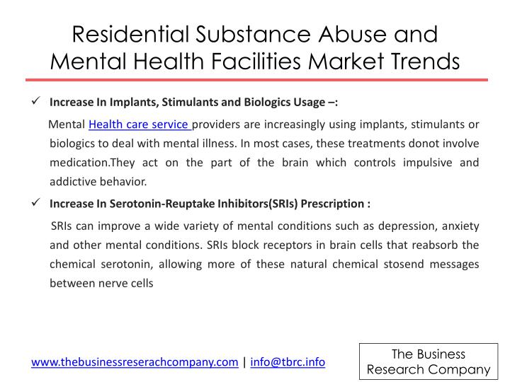 Residential substance abuse and mental health facilities market trends