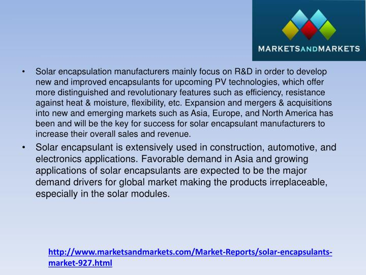 Solar encapsulation manufacturers mainly focus on R&D in order to develop