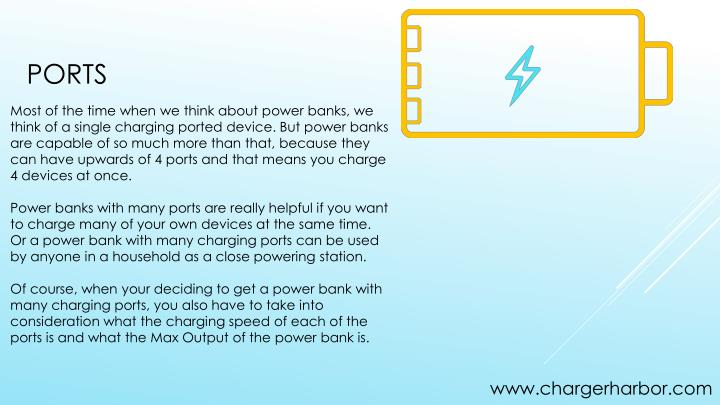 Most of the time when we think about power banks, we think of a single charging ported device. But power banks are capable of so much more than that, because they can have upwards of 4 ports and that means you charge 4 devices at once.