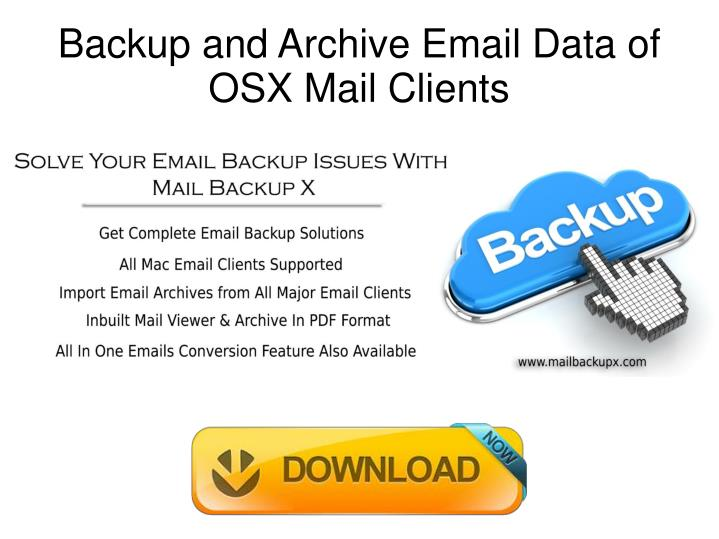 Backup and archive email data of osx mail clients