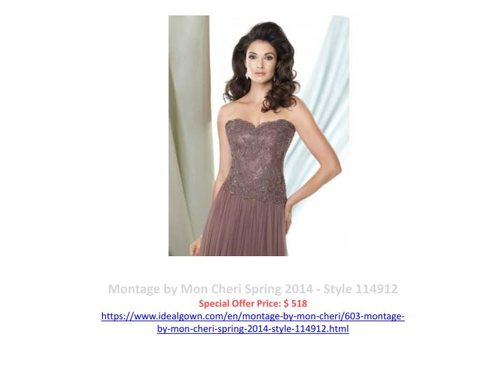 Montage by Mon Cheri Spring 2014 - Style 114912