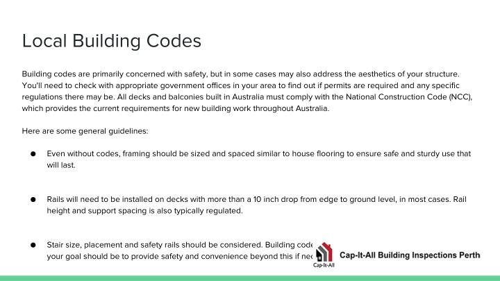 Local Building Codes