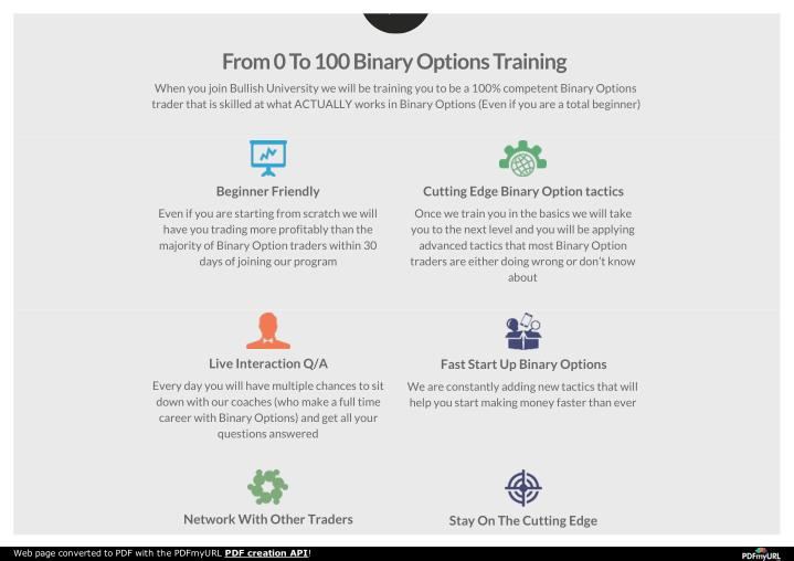 From 0 To 100 Binary Options Training