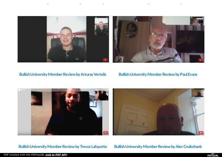 Bullish University Member Review by Kevin Stanley