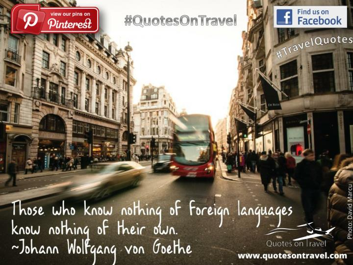Inspirational travel quote by johann wolfgang quotes on travel