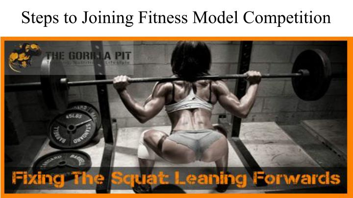 Steps to Joining Fitness Model Competition