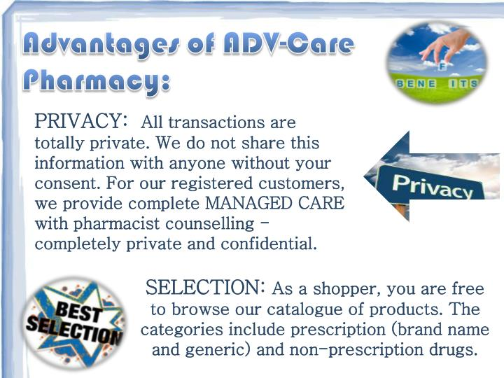 Advantages of ADV-Care Pharmacy: