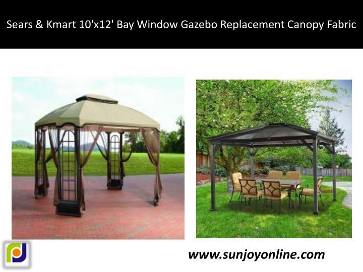 Sears & Kmart 10'x12' Bay Window Gazebo Replacement Canopy Fabric