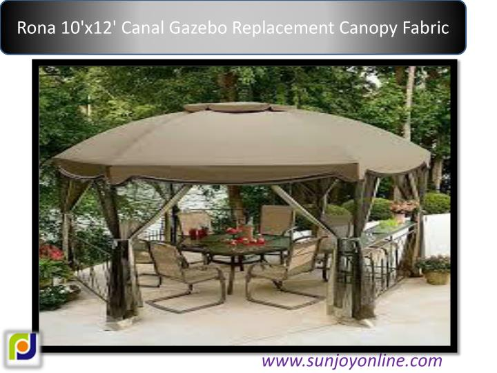 Rona 10'x12' Canal Gazebo Replacement Canopy Fabric