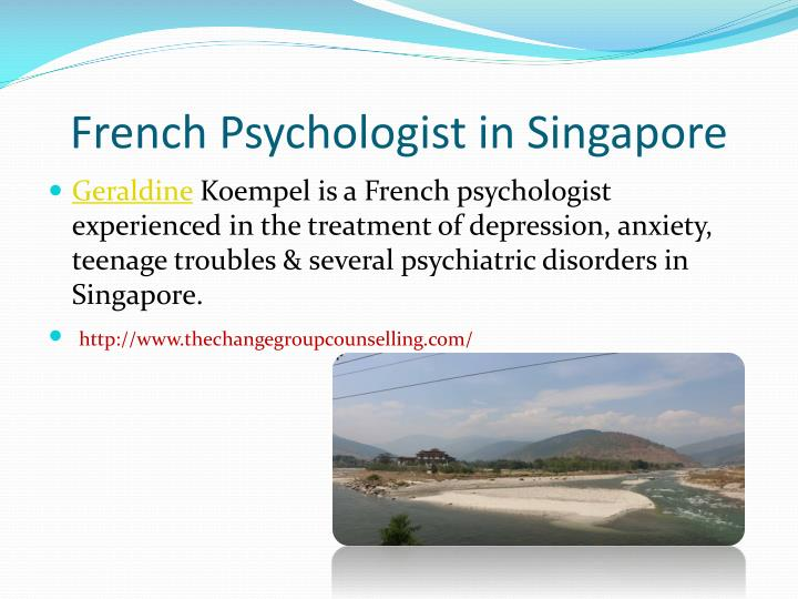 French Psychologist in Singapore
