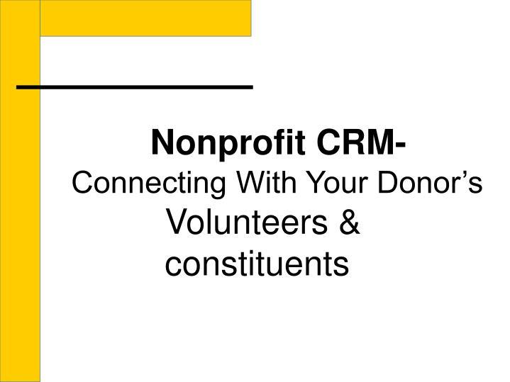 Nonprofit CRM-