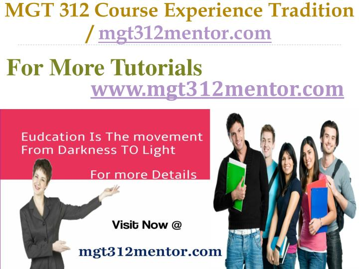 MGT 312 Course