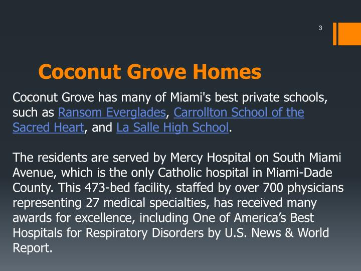 Coconut grove homes