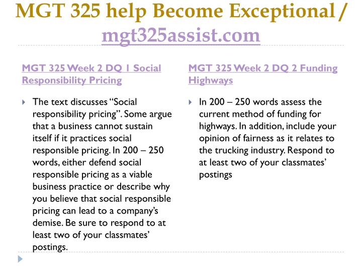 MGT 325 help Become Exceptional /