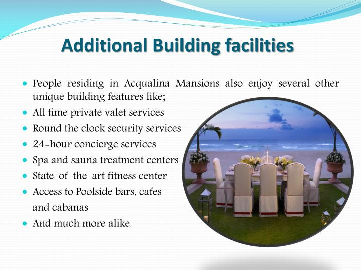 Additional Building facilities
