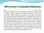 why invest in acqualina mansions