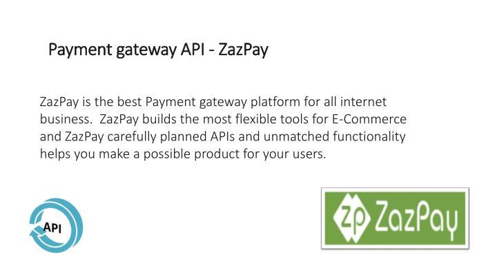 Payment gateway API - ZazPay
