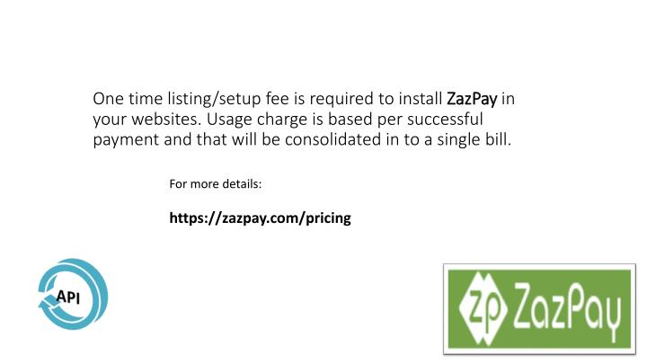 One time listing/setup fee is required to install