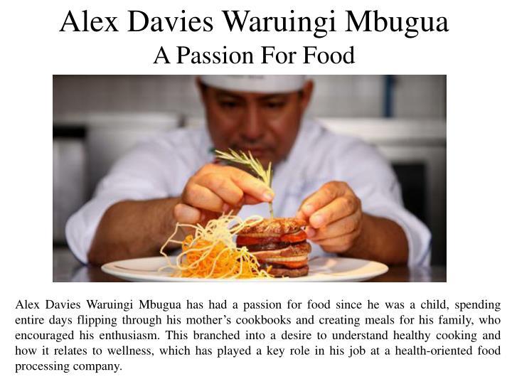 Alex Davies Waruingi Mbugua