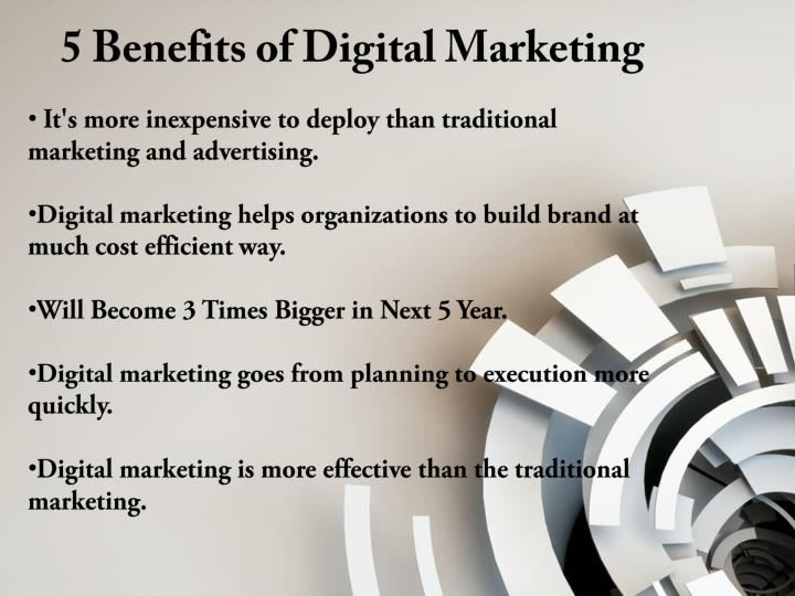 5 Benefits of Digital Marketing