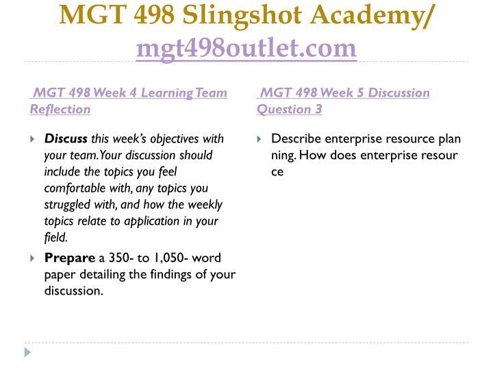 MGT 498