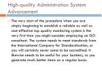 high quality administration system advancement