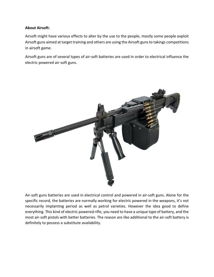 About Airsoft:
