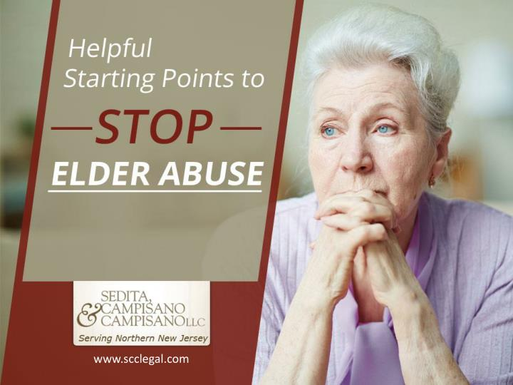 Helpful starting points to stop elder abuse