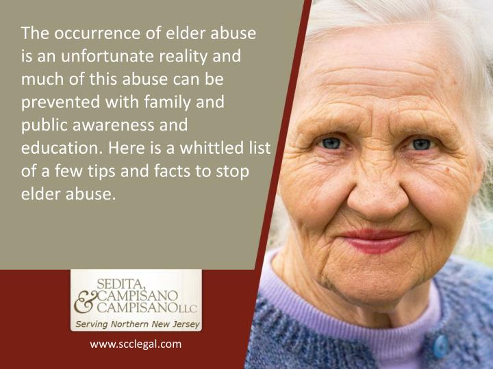 The occurrence of elder abuse is an unfortunate reality and much of this abuse can be prevented with...