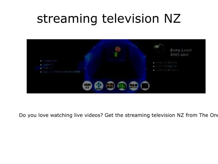 Streaming television nz