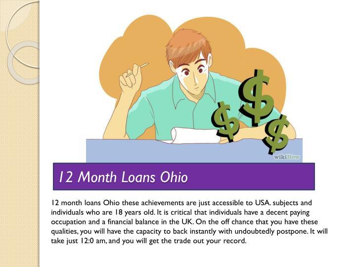 12 Month Loans Ohio