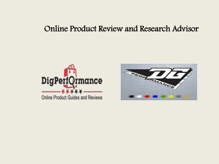 Online Product Review and Research Advisor