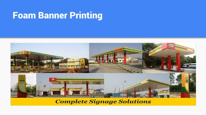 Foam Banner Printing