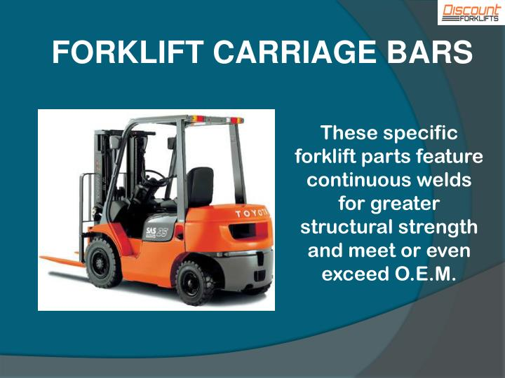 FORKLIFT CARRIAGE BARS