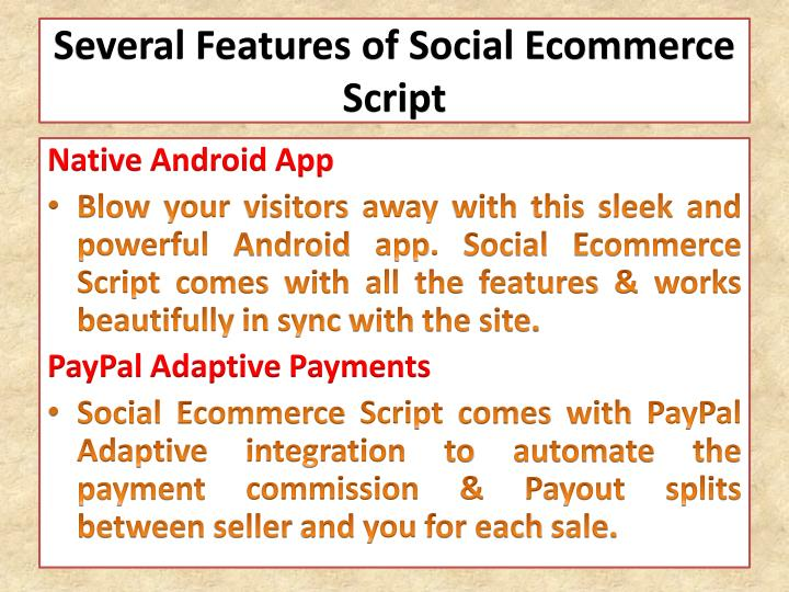 Several Features of Social Ecommerce Script