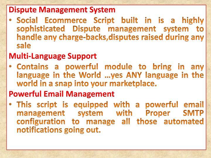 Dispute Management System