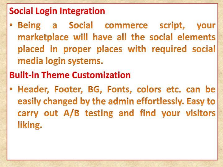 Social Login Integration