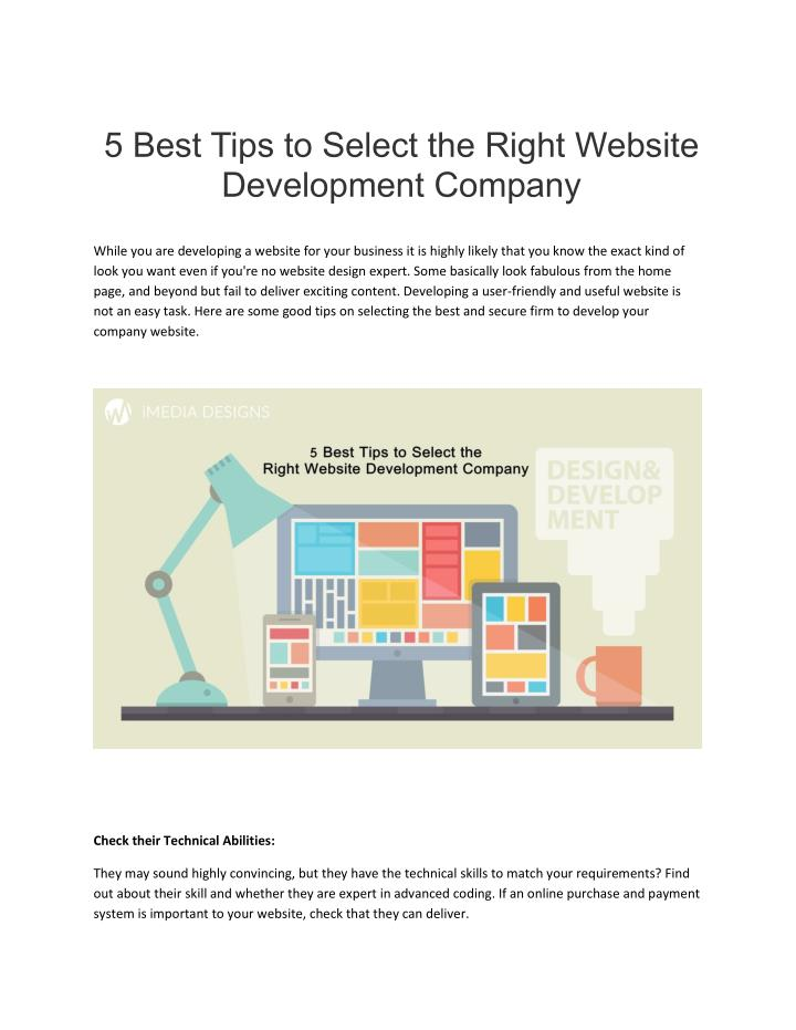 5 Best Tips to Select the Right Website