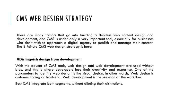 CMS Web Design Strategy