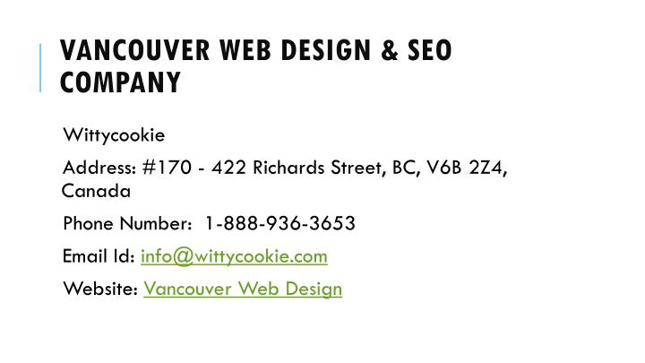 Vancouver Web Design & SEO Company