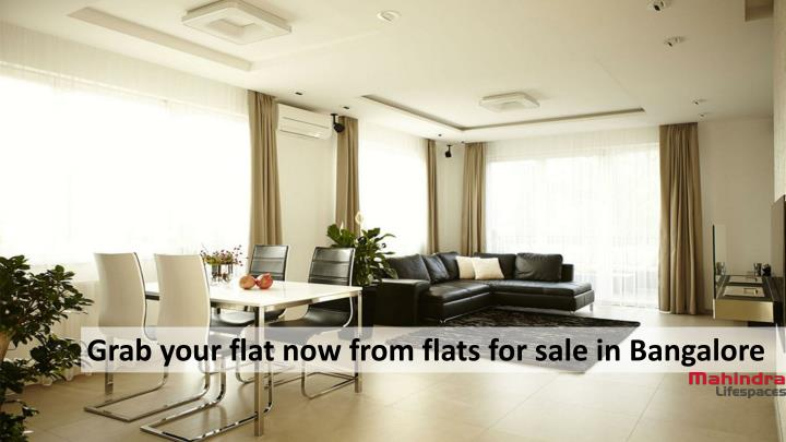 Grab your flat now from flats for sale in Bangalore