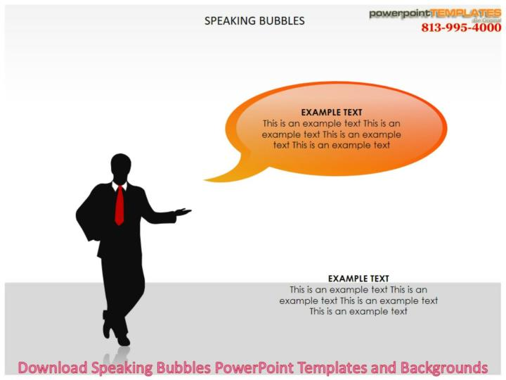 Download speaking bubbles powerpoint templates and backgrounds