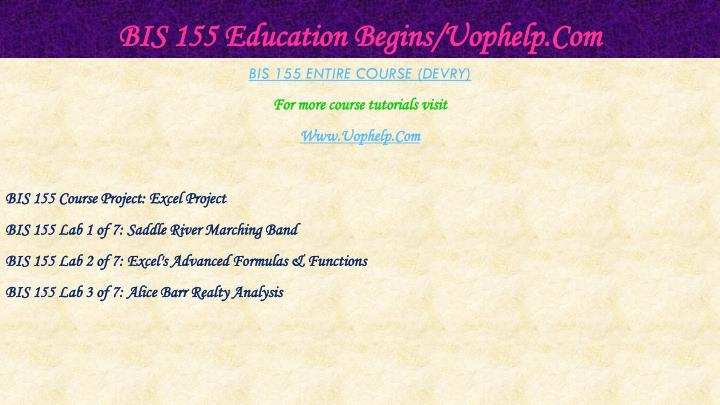 Bis 155 education begins uophelp com2
