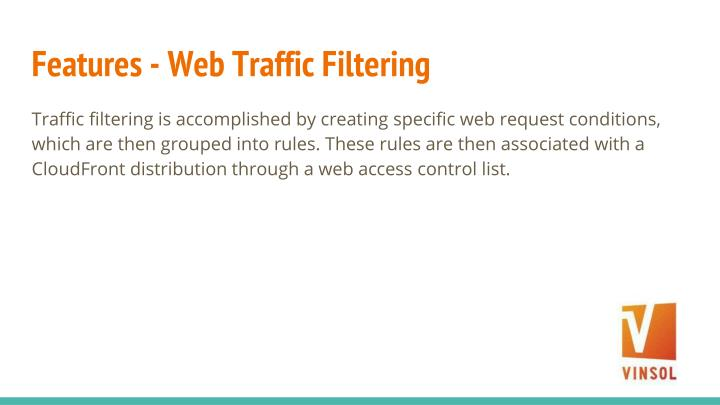 Features - Web Traffic Filtering